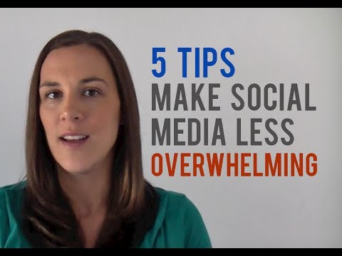 5 Tips to Make Social Media Marketing Less Overwhelming
